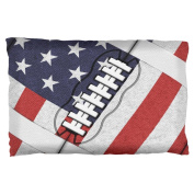 4th of July American Flag Patriot Football Pillow Case Multi Standard One Size