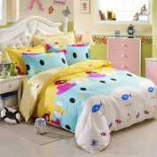 300tc cartoon style + pure cotton + cartoon anime + three-piece set(1quilt cover +1bed linen +1pillowcase)-G Twinch2