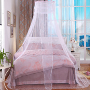 Mumustar Mosquito Net bed peach for Queen / King Bed Canopy Mesh Netting Valance Anti Mosquito