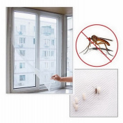 JuneJour Invisible Window Insect Screen Fly Bug Mosquito Net Mesh Curtain Protector with Hook and loop