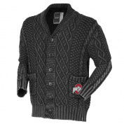NCAA Ohio State Buckeyes Unisex Cable Shawl Cardigan, Black, XX-Large