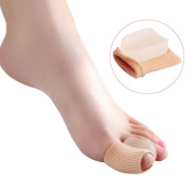 Gel Toe Separator, Kapmore 2 PCS Toe Spacer Protector Bunion Splint Pain Relief Hallux Valgus, Toe Alignment, Overlap Toes in Shoes For Men and Women