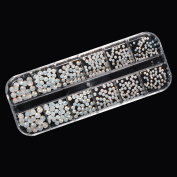 Rhinestones White Opal SS6 – SS20 500 Piece Crystal Glass Storage Containers
