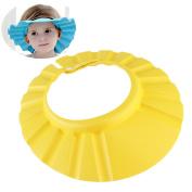 OULII 2pcs Adjustable Ultra-light Soft EVA Waterproof Baby Kids Shower Bathing Shampoo Cap Hat Protector