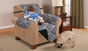 Deluxe Reversible Chair Furniture Protector, ODYSSEY GREY / BLACK