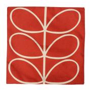 good01 46cm Vintage Linen Leaf Print Cushion Cover Throw Pillow Case