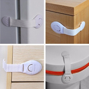 10 Staples/Pack Protectors Baby's Protection Security Lock for Cabinets, refrigerators, Doors Open Buy ETCC