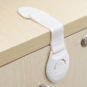 Hotreasure 5PCS Child Infant Baby Safety Appliance Fridge Drawer Cupboard Door Drawers Lengthened Safety Lock Latch