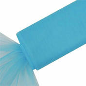 Tableclothsfactory 140cm x 37m Extra Large Wedding Tulle Bolt Party Decorations - Turquoise