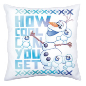 Disney Frozen 'Olaf and Friends' Printed Pillow Cover Embroidery Kit
