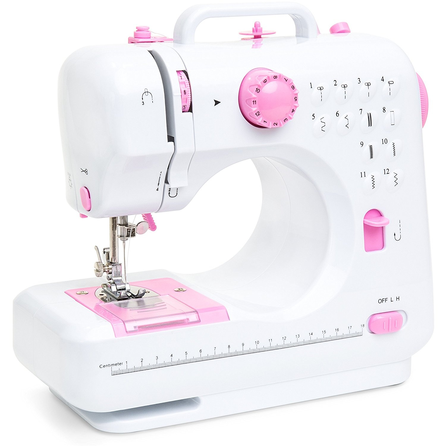 Best Choice Products 6V Compact Sewing Machine w/ 12 Preset Stitch ...