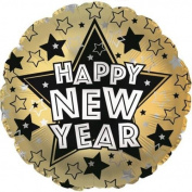 "Happy New Year Stars 17"" Foil Balloon"