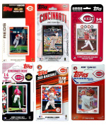 MLB Cincinnati Reds 6-Different Licenced Trading Card Team Set