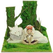 Princess Mononoke Minityua-to Kit mini (MP07-45) Son and dog/ paper craft / Studio Ghibli