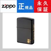 Zippo oil writer BLACKDEVIL black devil two etching BK titanium gold simple melody black 162-BLACKDEVIL