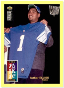 1995 Collector's Choice Player's Club #17 Luther Elliss DETROIT LIONS UTAH UTES
