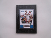 Andrew Wiggins Minnesota Timberwolves Prestige Threads NBA 2016-17 player card mounted on a 10cm x 15cm black marble plaque