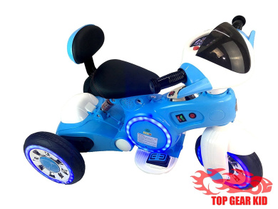 12V ELECTRIC TRICYCLE KID RIDE ON TOY WITH LED WHEELS AND MP3 PLAYER (BLUE)