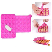Itian Lollipop Cake Mould Pop Cake Stick Silicon Chocolate Mould 20 Holes DIY Baking Tools
