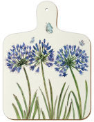 Mini Chopping Board - Agapanthus Blue Flower by Caroline Cleave