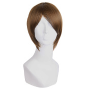 "MapofBeauty 12""/30cm Men's Short Straight Side Bangs Cosplay Costume Wig"