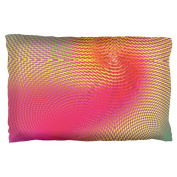 EDM Hypnotic Trance Rainbow Spiral Pillow Case Multi Standard One Size