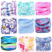 KALILY 9PCS/6PCS Headband Bandana - Versatile Sports & Casual Headwear –Multifunctional Seamless Neck Gaiter, Headwrap, Balaclava, Helmet Liner, Face Mask for Camping, Running, Cycling, Fishing etc