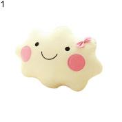 Cartoon Cotton Cloud Pillow Car Sofa Cushion Case Bolster Kids Gift Sleep size 35CM