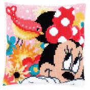 Disney's Minnie Mouse 'Psst I've a secret' Cross Stitch Cushion Kit