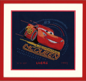 Disney's Cars 'Screeching Tyres' Birth Record Counted Cross Stitch Kit
