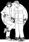 Folkwear #145 Chinese Pyjamas Jacket Pants Trousers China Asian Traditional Sewing Pattern (Pattern Only) folkwear145