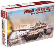 Modelcollect UA72082 Model Kit Syrian War T 72BM W. Contact 1 EXPLOSIVE Reactive Armour Main Battle Tank