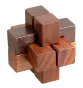 Icrafts Handmade Wooden IQ Teaser Puzzle Magic Games Gaoled Square For Children Unique Gifts 5 X 5 X 5 cm