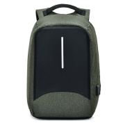 DanSoul Anti-Theft Travel School Bags Laptop Backpack Rucksack with USB cable,green