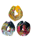 Ladies Lightweight Infinity Scarf 6 Piece Assorted Colours Pack
