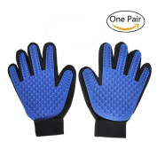 Pet Grooming Glove,Novatech Gentle Deshedding Brush Glove - Efficient Pet Hair Remover Mitt -Perfect for Dogs & Cats with Long & Short Fur