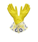 Latex Designer Fashion Long-Cuff Reusable Brillo Basics Multi Purpose Gloves! Textured Grip! - One Size Fits All!
