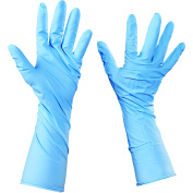 Ship Now Supply SNGLV2014M Nitrile Gloves with Extended Cuff, Medium, Blue