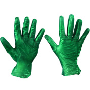 Ship Now Supply SNGLV2046S Vinyl Gloves, Powdered, 6.5 mil, Small, green
