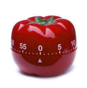 Kitchen Timer ,Cheap4uk 60 Minute Chef Vegtable Mechanical Timer Kitchen Tool Cooking Ring Alarm Cooking Countdown Reminder Convenient Kitchen Gadgets(Tomato-2)