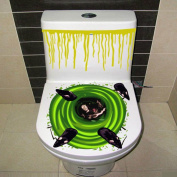 Halloween Bloody Hand Toilet Cover Party Decoration Sticker Prop Scary Zombie