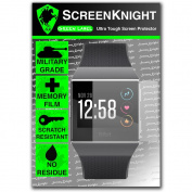 ScreenKnight® Fitbit IONIC Screen Protector Military shield - 1 Pack
