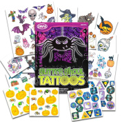 Halloween Stickers and Tattoos Party Pack (Over 40 Glitter Ghoul Tattoos and 200 Halloween Stickers)
