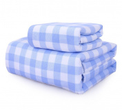 Easy Care Bath Towel Cotton Gauze Set 1 Towel +1 Bath Towel Square Men And Women Baby Adult Guesthouse Hotel Absorbent Towel Water absorption