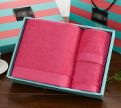 Easy Care Long Cotton Cotton Towels Square Towel Gift Box 3 Sets Wedding Gift Return Gift Water absorption