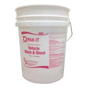 Bucket, 18.9l White/pink