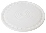 Hudson Exchange Reusable Easy Peel Lid for 3.5, 5, 6, and 26.5lBuckets, HPDE, White, 12 Pack