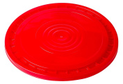 Hudson Exchange Reusable Easy Peel Lid for 3.5, 5, 6, and 26.5lBuckets, HPDE, Red