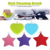 Lavany® 5Pcs Silicone Dish Brush Dish Washing Sponge Scrubber Cleaning antibacterial Tool for Kitchen Pot Pan Dish Bowl