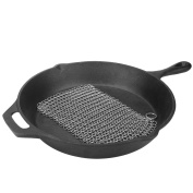 LauKingdom Cast Iron Cleaner - 20cm x 15cm Stainless Steel 316 Cleaning Brush Chainmail Scrubber for Cast Iron Pan